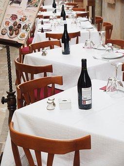 Restaurant, Gastronomy, Wine, Table, Covered, Nobel
