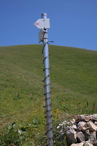 Directory, Signpost, Waymarks, Shield, Post