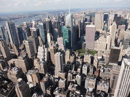 New York, Empire State Building, City, View
