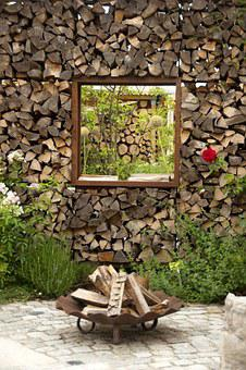 Wood, Holzstapel, Fireplace, Fire Bowl, Barbecue
