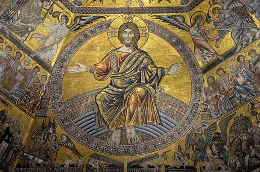 Italy, Florence, Mosaic, Baptismal Ceiling Saint-jean