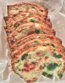 Cherry Cake, Red, Green, Glazed Cherry, Loaf Cake, Food