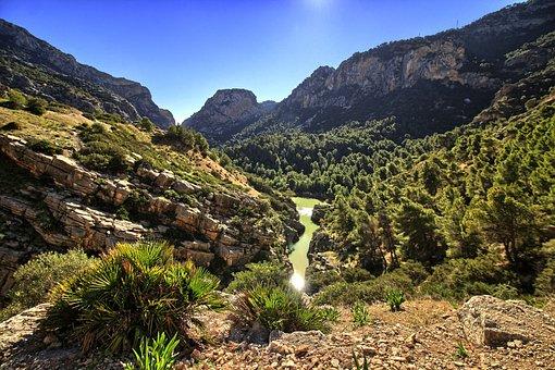 Valley, Guadalhorce, Malaga, Pinewood, Hiking