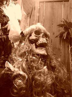 Skeleton, Skull, Women, Western, History, Sad, Pirates