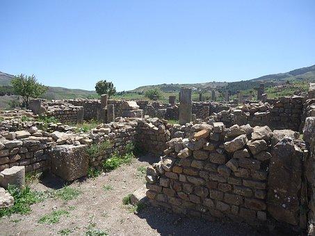 Ruin, Djemila, Algeria, Africa, Historic, Pictorial