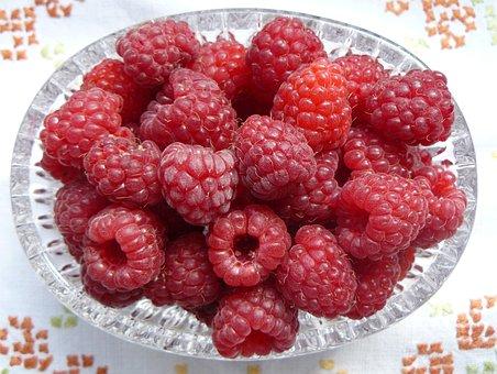Raspberries, Fruit, Fruits, Berries, Red, Vitamins