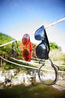 Summer, Sunglasses, Solar, Glasses, Sky, Cloud, Blue