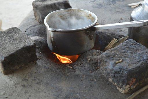 Tea Pot, Stove, Tea, Fire, Cooking, Pot, Camping
