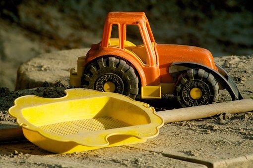 Sieve, Tractor, Sand, Sandbox Toys