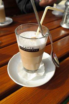 Coffee, Latte Macchiato, Milchschaum, Warm, Delicious