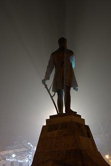 Statue, Monument, Statue Of Lajos Kossuth, At Night