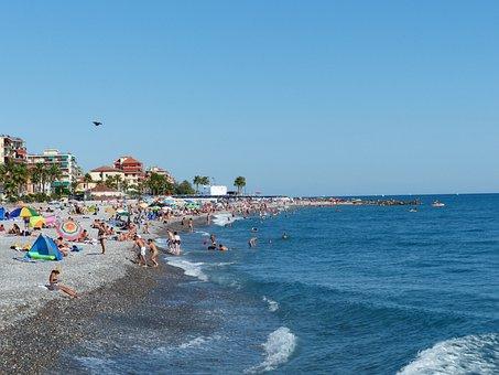Swim, Vacations, Sea, Beach, Bathers, Fun Bathing