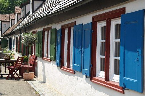 Houses, Building, Architecture, Apartments, Colorful