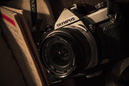 Photo, Camera, Old, Retro, Olympus