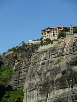 Monastery, Meteora, Greece, Rock, Fortress, Olympus