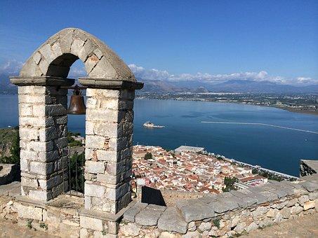 Palamidi, Greek, Island, Castle, Greece, Nafplion