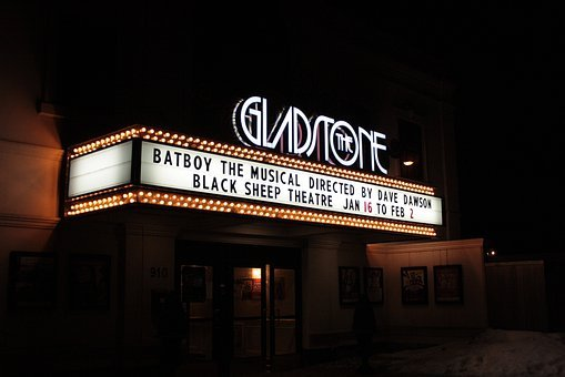 Marquee, Theatre, Theater, Billing, Night, Musical