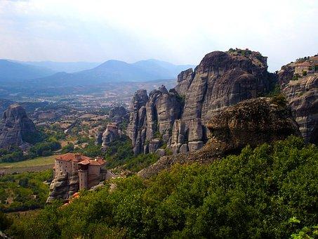 Meteora, Greece, Monastery, Olympus, Fortress