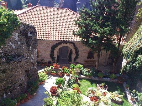 Meteora, Greece, Rock, Olympus, Monastery, Fortress