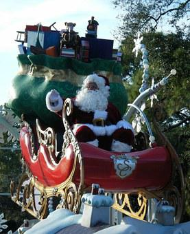 Christmas, Parade, Magic Kingdom, Disney, Santa