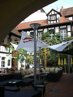 Restaurant, Truss, Courtyard, Seating Arrangement
