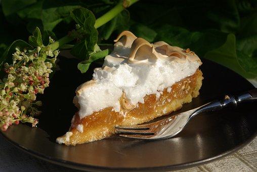 Rhubarb Cake, Pastries, Dessert, Cholesterol