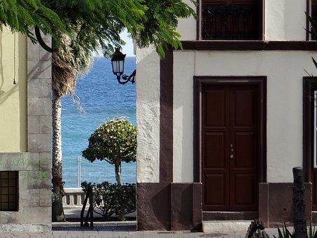 La Palma, Capital, Santa Cruz, Spain, Alley, Sea