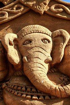 Sand, Sculpture, Sandworld, Sand Sculpture, Elephant