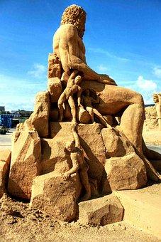 Sand, Sculpture, Sandworld, Sand Sculpture, Statue