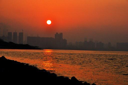 Sunrise, Shenzhen, Bay, Coast, Future