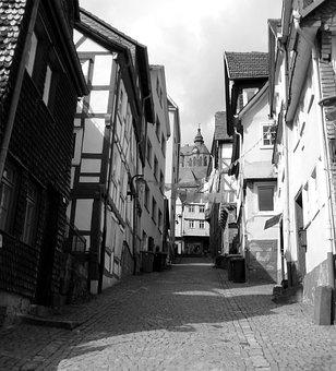 Home, Truss, Fachwerkhaus, Old Town, Marburg, Wood, Bar