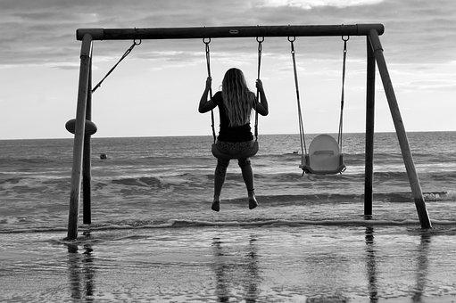 Altalenando, On The Water, Swing, Sea, Barbara Bonanno