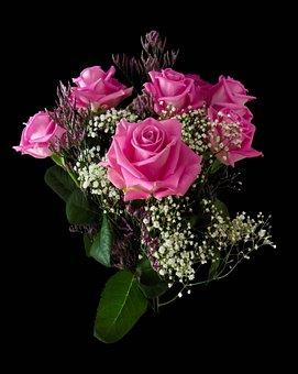 Birthday, Flowers, Valentine's Day, Bouquet, Roses