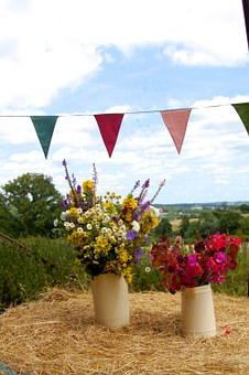 Floral, Flowers, Barn, Hay, Bunting, Harvest, Bouquet