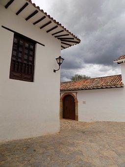 Plaza, People, Rural, Colombia, Villa, Leyva, Colonial