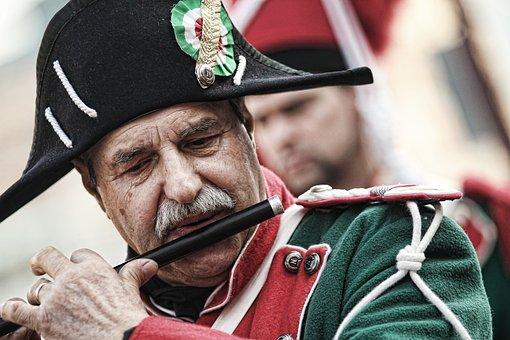 Man, Flute, Instrument, Carnival, Costume, Culture