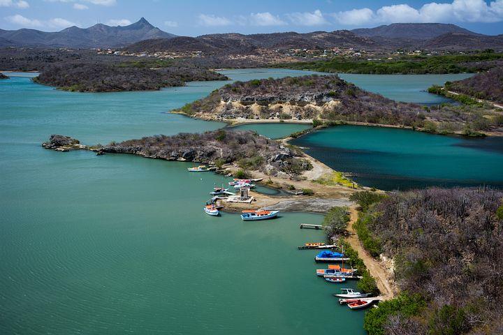 Santa Martha Bay, Curacao, Caribbean, Harbor, Boats
