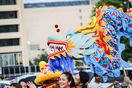 Chinese, Dragon, Parade, Culture, Festival, Costume