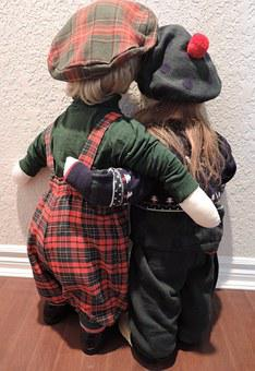 Faceless Dolls, Life Size, Dressed, Hand Made, Hugs