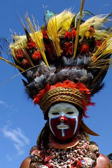 Costume, Painted, Feathers, Carnival, Papua New Guinea