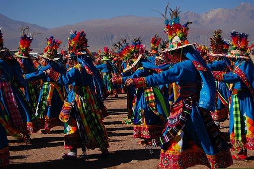 Festival, Dance, Colors, Andean, Chile, Dancers