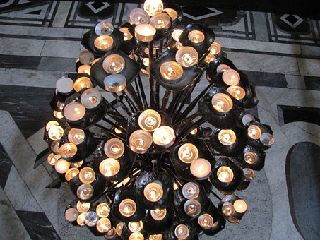 Florence, Dome, Church, Candles, Candlestick