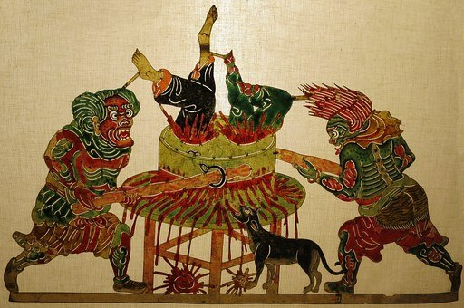 Painting, Grinding, Hell, Shadow, Puppet, Shaanxi