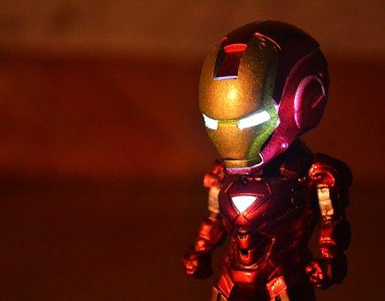 Iron Man, Robotic, Superhero, Hero, Toy, Man, Iron