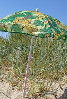 Beach, Summer, Sun, Sun Protection, Parasol, Holiday