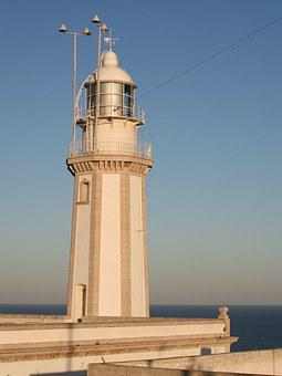 Lighthouse, Spain, Building, Javea, Home, Sea, Cliff