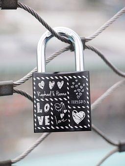 Castle, Fence, Love, Love Castle, Padlock, Engraving