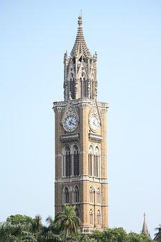 Mumbai, Clock, Tower, Architecture, City, Monument