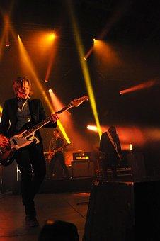 Concert, Guitar, Lights, Bright, Rock, Music, Play