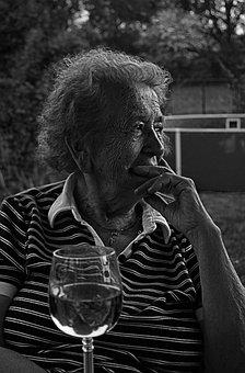 Black And White, Woman, One, Czech Budejovice, Mrs